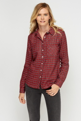 Metallic Checked Shirt