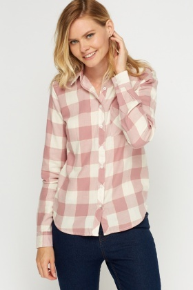 Metallic Insert Checked Shirt