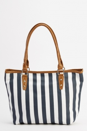 Stripe Printed Bag