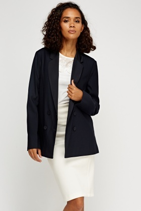 Double Breasted Casual Blazer