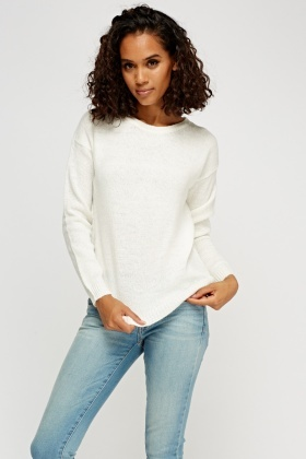 Ivory Knitted Jumper