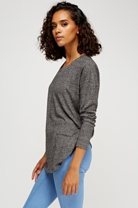 Round Neck Speckle Top