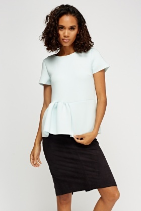 Scuba Peplum Top