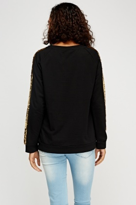 Sequin Embellished Trim Jumper