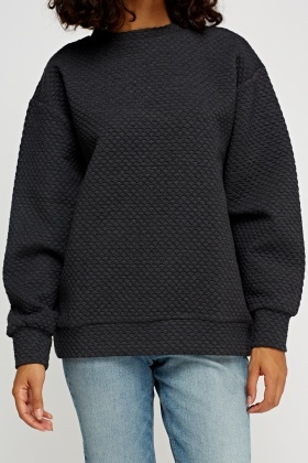 Textured Basic Jumper