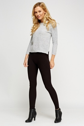 Casual Black Leggings