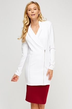 Longline Zip Up Blazer