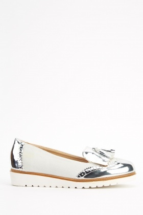 Contrast PVC Fringed Shoes