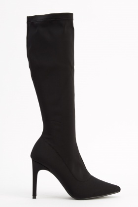 Elasticated Knee High Boots