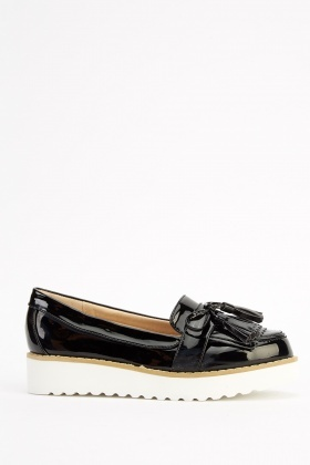 Flatform PVC Loafer Shoes