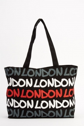Multi Printed London Bag