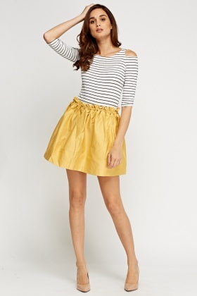 Box Pleat Elasticated Skirt