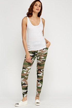 Camouflage Green Joggers