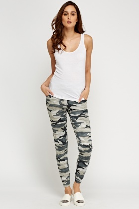 Camouflage Grey Joggers