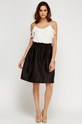 Pleat Box Skater Skirt
