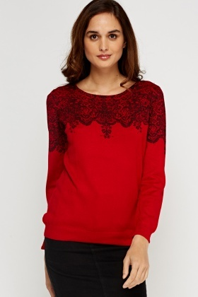 Printed Knitted Jumper