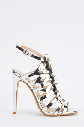 Metallic Laser Cut Heels