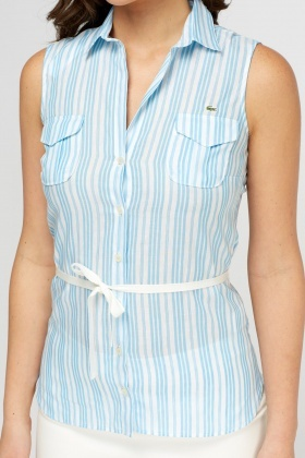 Lacoste Striped Sleeveless Shirt