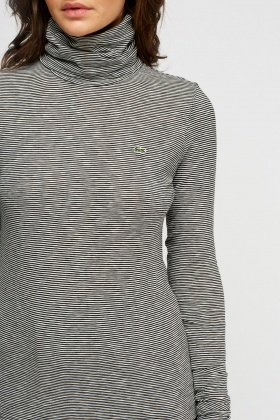 Lacoste Turtle Neck Striped Top