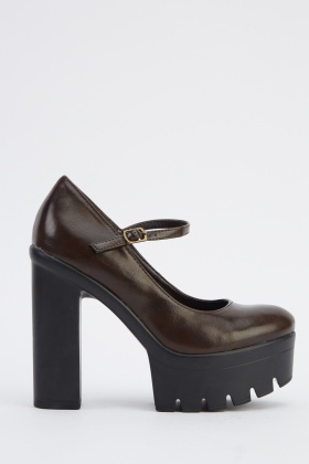Faux Leather Platform Shoes