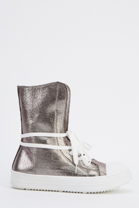 High Top Metallic Trainers