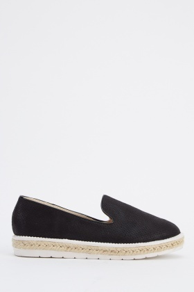 Metallic Espadrilles Slip On Shoes