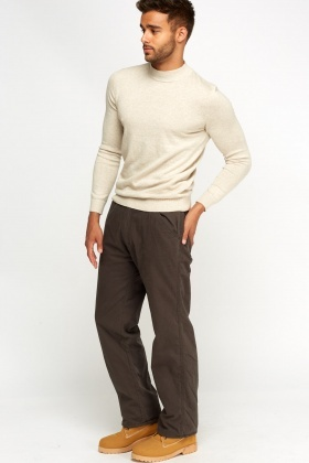 Fleece Lined Chino Trousers