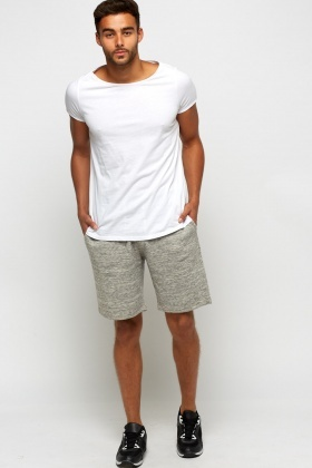 Speckled Jogger Shorts
