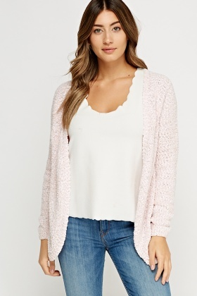 Bobble Knit Speckled Cardigan