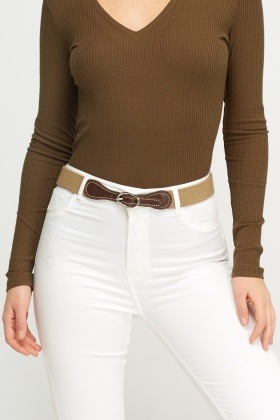 Lacoste Contrast Women Belt
