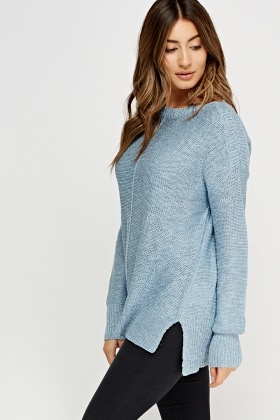 Slit Side Knitted Jumper