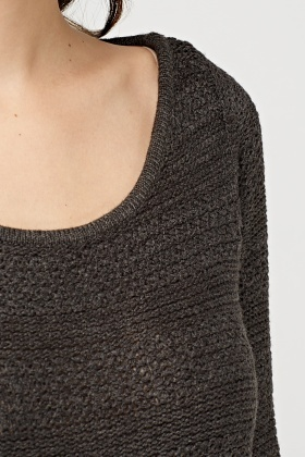 Round Neck Basic Knit Jumper