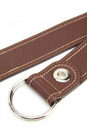 Lacoste Coffee Stitched Detailed Belt