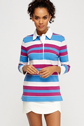 Lacoste Multi Stripe Polo Top