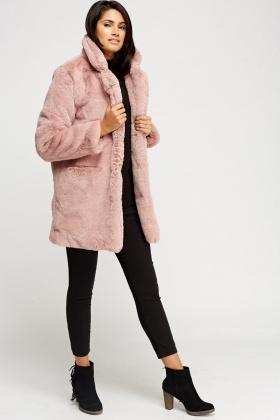 241677e7a976 K.ZELL Dusty Pink Teddy Bear Faux Fur Coat - Limited edition ...