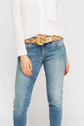 Lacoste Plait Buckle Belt