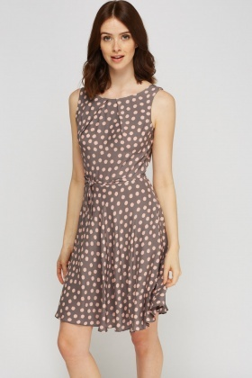 Printed Tie Up Swing Dress
