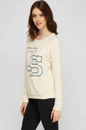 Teddy Bear Contrast Knitted Jumper