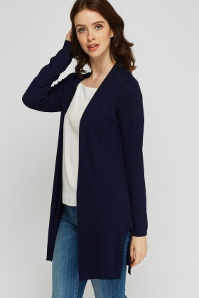 Thin Knit Slit Side Cardigan