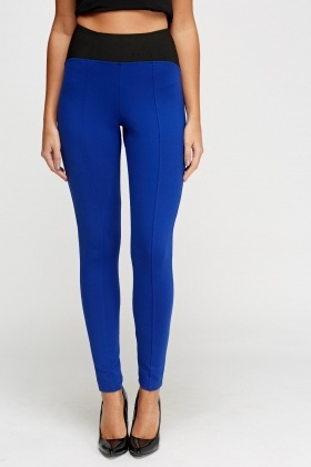 Contrast High Waist Trousers