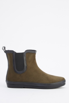Suedette Ankle Welly Shoes