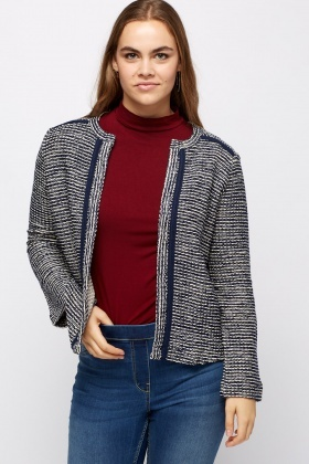 Open Front Speckle Blazer