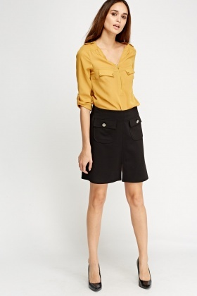 Twin Pocket Front Skirt
