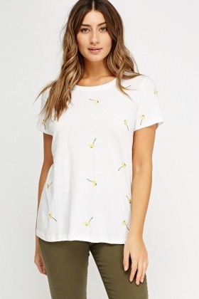 Daisy Embroidered T-Shirt