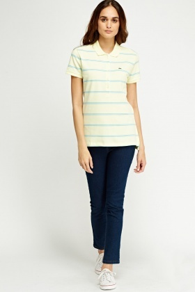 Lacoste Striped Short Sleeve Top