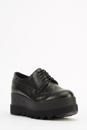 Chunky Brogue Platform Shoes