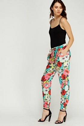 Juicy Couture Floral Printed Trousers