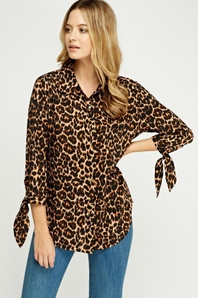 Juicy Couture Leopard Print Blouse