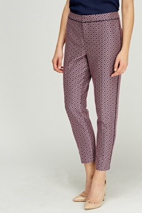 Juicy Couture Lilac Printed Trousers