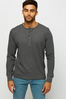 ba140dd46ae0 Button Neck Cotton Sweater - Just £5